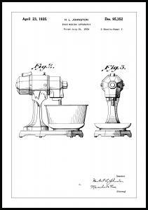 Bildverkstad Patenttekening - Mixer II Poster