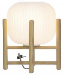 Aneta Belysning Tafellamp Vinda Klein - Hout/Wit