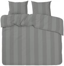 Redlunds Dekbedovertrek set Big Stripe Satin Kingsize 3-delig - Grijs
