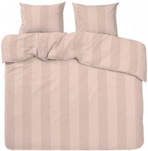 Redlunds Dekbedovertrek set Big Stripe Satin Kingsize 3-delig - Peach