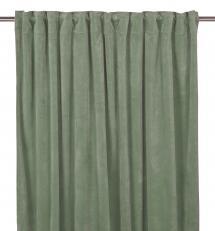 Fondaco Plooiband gordijnen Velvet - Agave groen set van 2