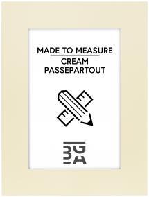 Egen tillverkning - Passepartouter Passe-partout Crème (Witte kern) - Op maat gemaakt
