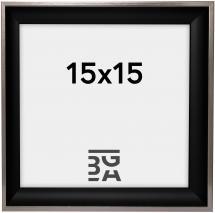 Galleri 1 Fotolijst Öjaren Zwart-Zilver 15x15 cm