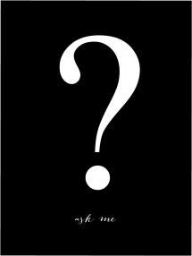 Bildverkstad Ask me - Zwart met witte print Poster