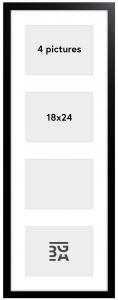 Galleri 1 Black Wood Collagelijst - 4 Foto's (18x24 cm)