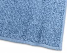 Borganäs of Sweden Gastendoek Stripe Badstof - Middenblauw 30x50 cm