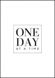Bildverkstad One day at a time Poster