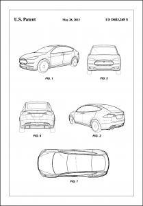 Bildverkstad Patent Print - Tesla - White Poster