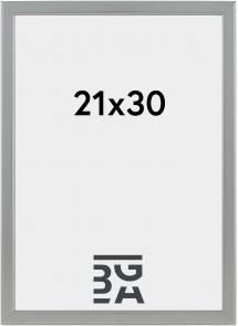HHC Distribution Fotolijst Slim Mat Ontspiegeld Glas Zilver 21x30 cm