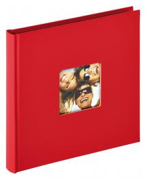 Walther Fun Album Rood - 18x18 cm (30 Zwarte pagina's / 15 bladen)