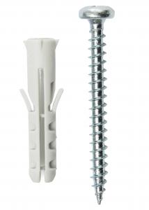 Plug 30 x 6 mm met schroef 10-pack