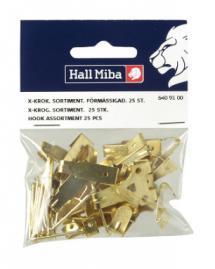 Hallmiba X-haak smeedijzer 25 st.