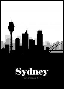 Bildverkstad Sydney Skyline Poster