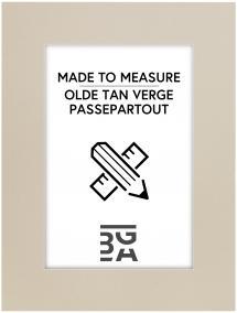 Egen tillverkning - Passepartouter Passe-partout Olde Tan Verge - Op maat gemaakt