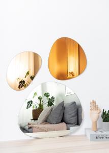 Incado Spiegel Set Orange, Rose Gold & Clear - 3 st.