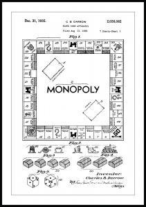 Lagervaror egen produktion Patenttekening - Monopolie I Poster