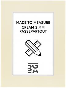 Passepartouter Måttbeställda Passe-partout Crème 3 mm (Witte kern) - Op maat gemaakt