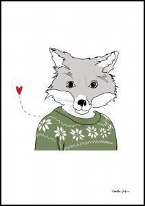 Bildverkstad Furry-Fox Poster