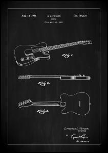 Bildverkstad Patent Print - Guitar - Black Poster