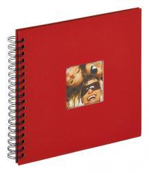 Walther Fun Spiraalalbum Rood - 26x25 cm (40 Zwarte pagina's / 20 bladen)