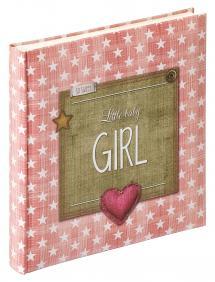 Walther Little Babyalbum Girl Roze - 28x30,5 cm (50 Witte pagina's / 25 bladen)