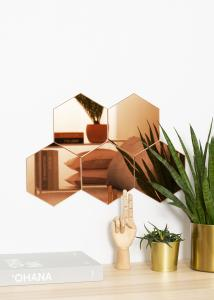 KAILA KAILA Spiegel Hexagon Rose Gold 18x21 cm - 5-pack