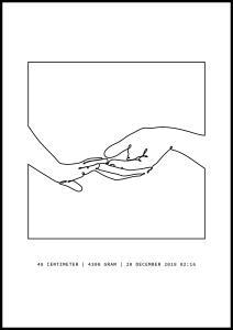 Personlig poster Holding Hands III