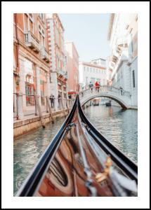 Bildverkstad Gondola in Venice Poster
