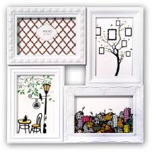 ZEP Cordoba Collagelijst Plexiglas Wit - 4 Foto's