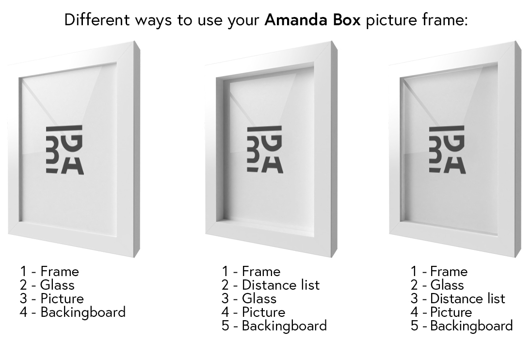Artlink Amanda Box Wit 70x100 cm